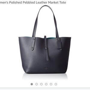 Coach pebbles leather market tote